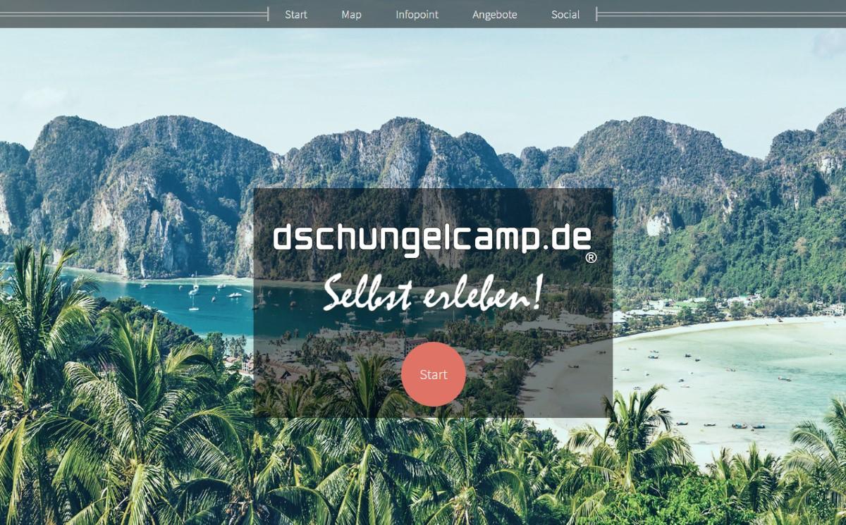 Dschungelcamp - Abenteuer- & Erlebniswebseite