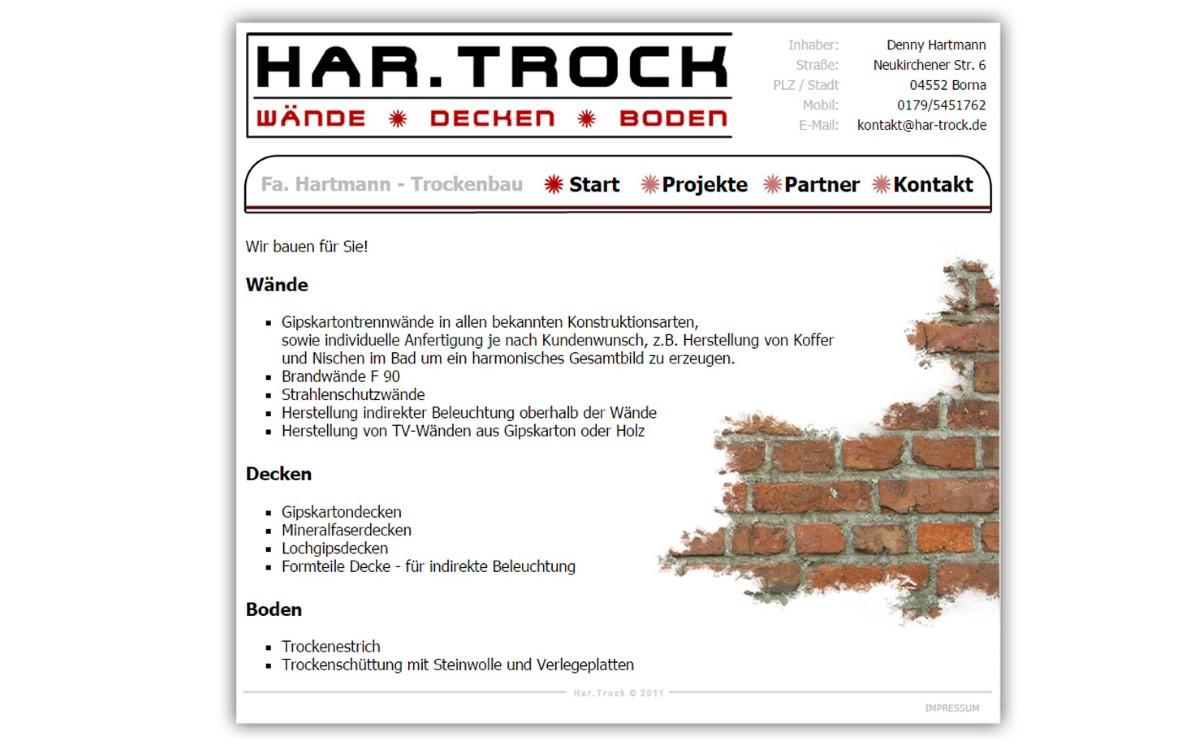 Har-Trock - Handwerkerwebseite