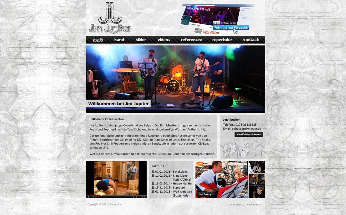 Jim Jupiter - Bandwebseite